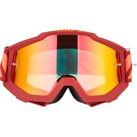 100% Accuri Anti Fog Mirror Goggles, rood/blauw